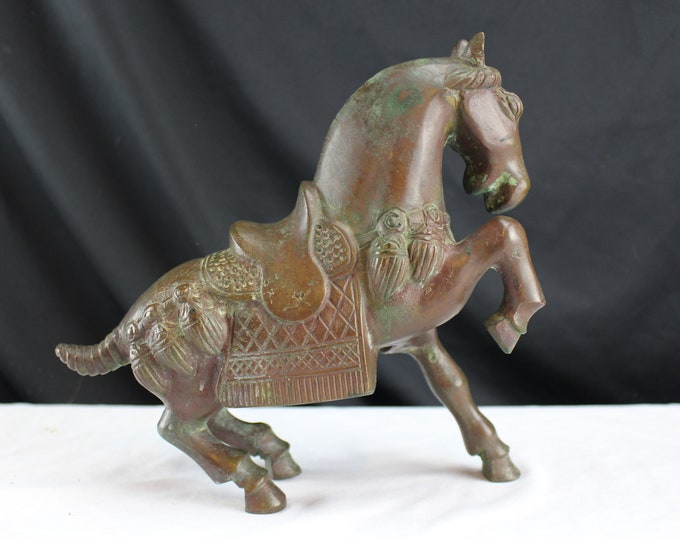 Vintage 20th Century Bronze Statue/Figurine Tang Dynasty Style Horse Asian Decor