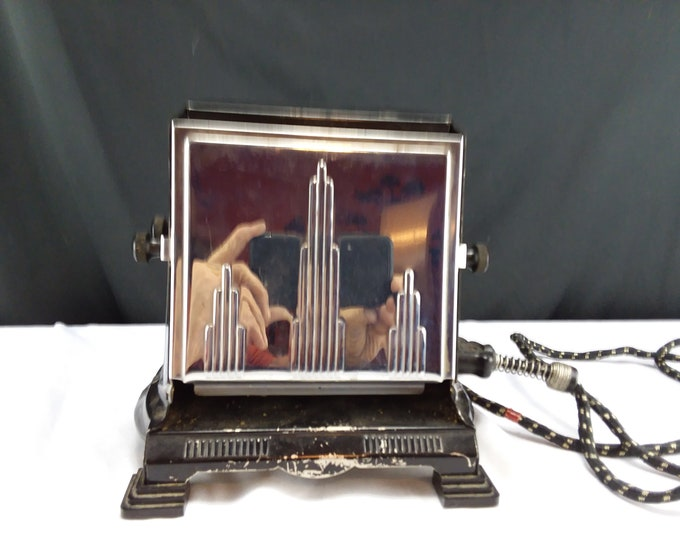 Manning & Bowman Electric Chrome Art Deco 1930's 2 Door Toaster