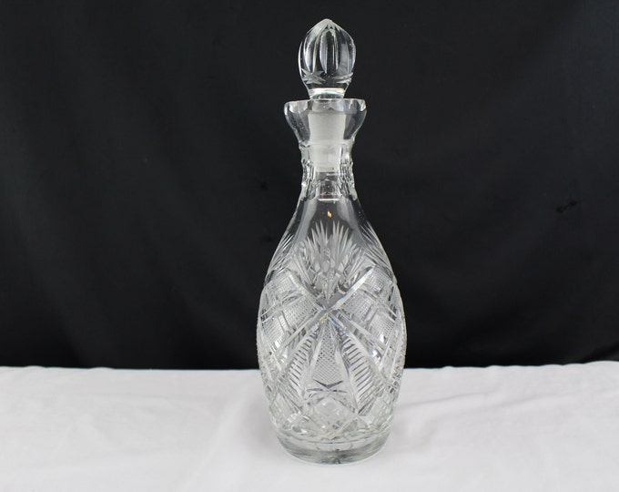 Barware Cut Crystal Glass Decanter With Stopper