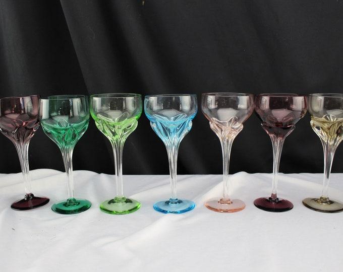 Art Glass Wine Glasses Different Colors Stemware Barware Cocktail