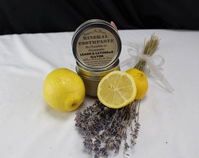 Hippie at Heart All Natural Health and Beauty Lemon Lavender Toothpaste