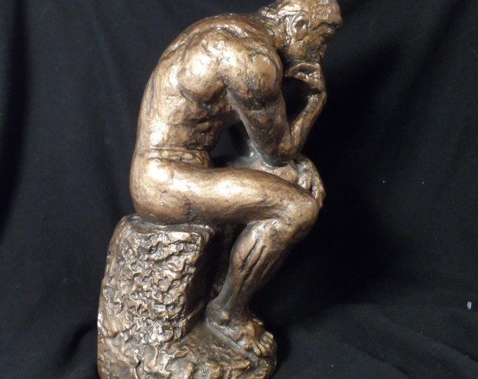 Figurine-Austin Products Rodin's The Thinker Figure-Dante The Divine Comedy-Man Thinking Statue