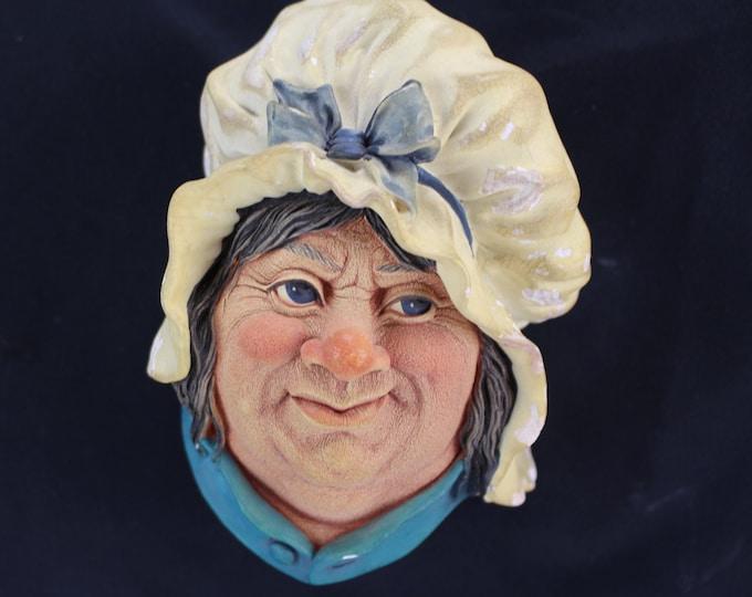VINTAGE Bossons Sara Camp Sheik Hanging Wall Art Chalkware Head England
