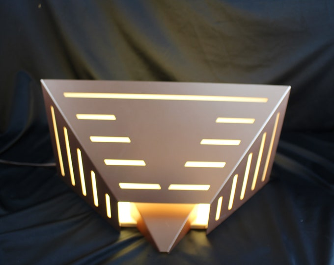 Vintage Copper Finished Home Theater Wall Sconce Light Fixture Art Deco Home Lighting