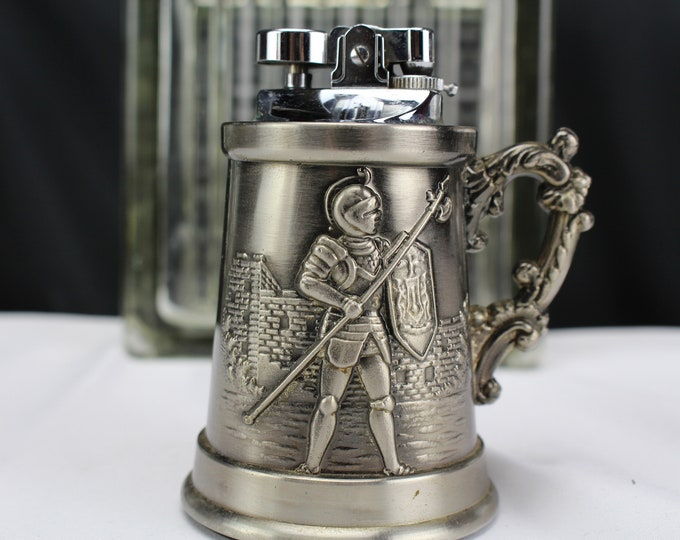 Vintage Table Lighter Figurine Beer Stein Tobacciana