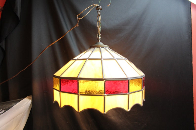 Superieur Vintage Tiffany Style Leaded Stained Glass Hanging Light Lamp Shade Fixture  Pendant Lighting Home Decor