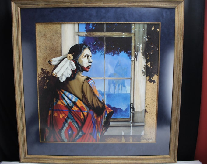 Lithograph Print JD Challenger - Reflections From The Shadow Spirit -Limited #240/800 Signed Framed Native American
