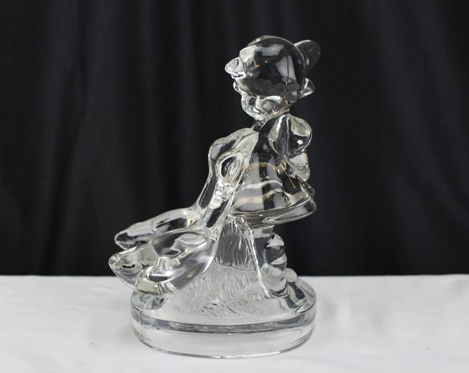 GOEBEL HUMMEL GLASS paperweight Figurine Statue Geese/Goose Girl-Home Decor Collectible