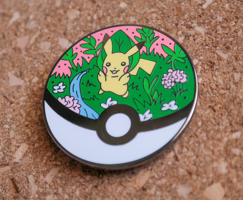 Pokeball Terrarium Pin 25 Pokemon Inspired Enamel Pin Etsy