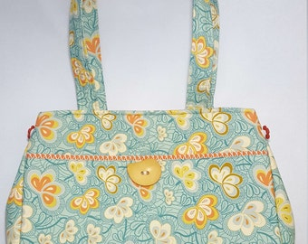 Turquoise Flower Purse