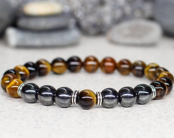 Mens Bracelet Jewelry Reiki Healing Mala Anniversary Gifts For Men Gift Brother Husband Dad Him