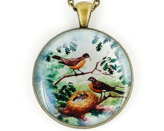 Bird Pendant Necklace Statement Love Baby Shower Gift For Mom Nurse Wife Anniversary Her Sister