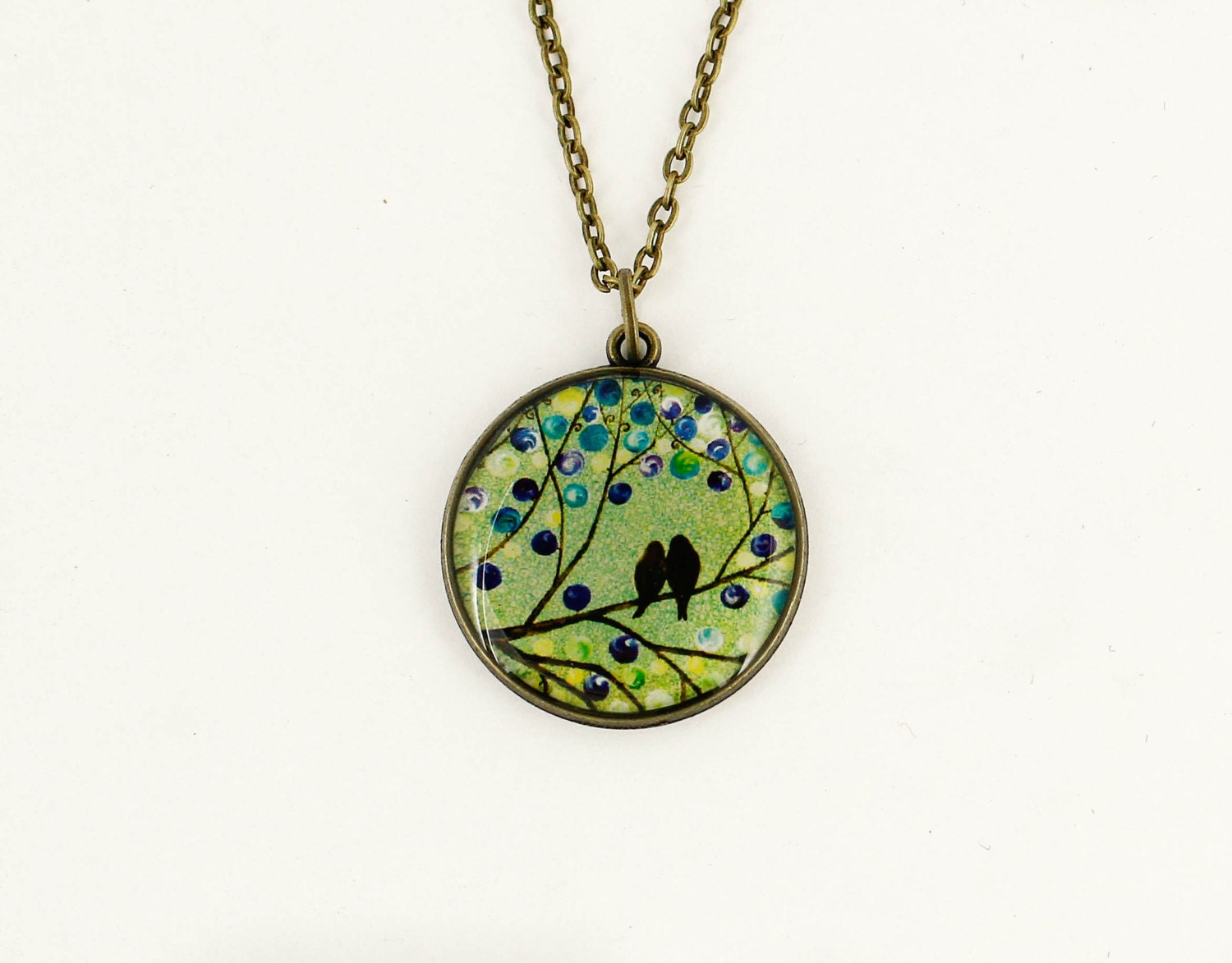 Green pendant necklace Mom jewelry Mothers day gift for wife anniversary gifts for girlfriend gift for best friend gifts for sister gift her