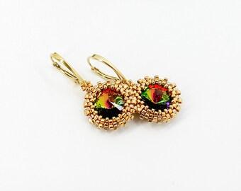 Dangle earrings Drop earrings Dainty earrings Gold earrings Anniversary gift for wife gift for grandma gift for mom gift for sister gift her