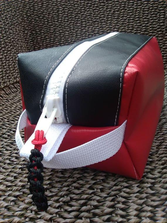 Red and black toiletry bag travel kit dopp bag unisex  e193765baa24f