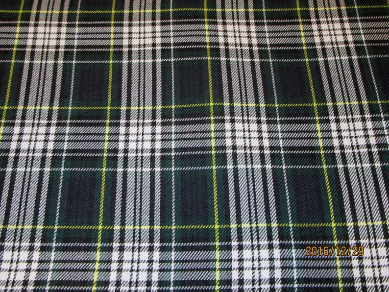 fe75b196dc Dress Gordon Tartan Plaid Fabric Poly Viscose FabricSuiting