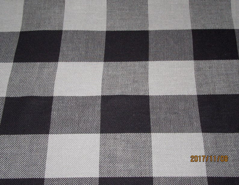 43fcf82a320 Buffalo Plaid Cotton FabricBuffalo Grey Black Plaid fabricBy   Etsy