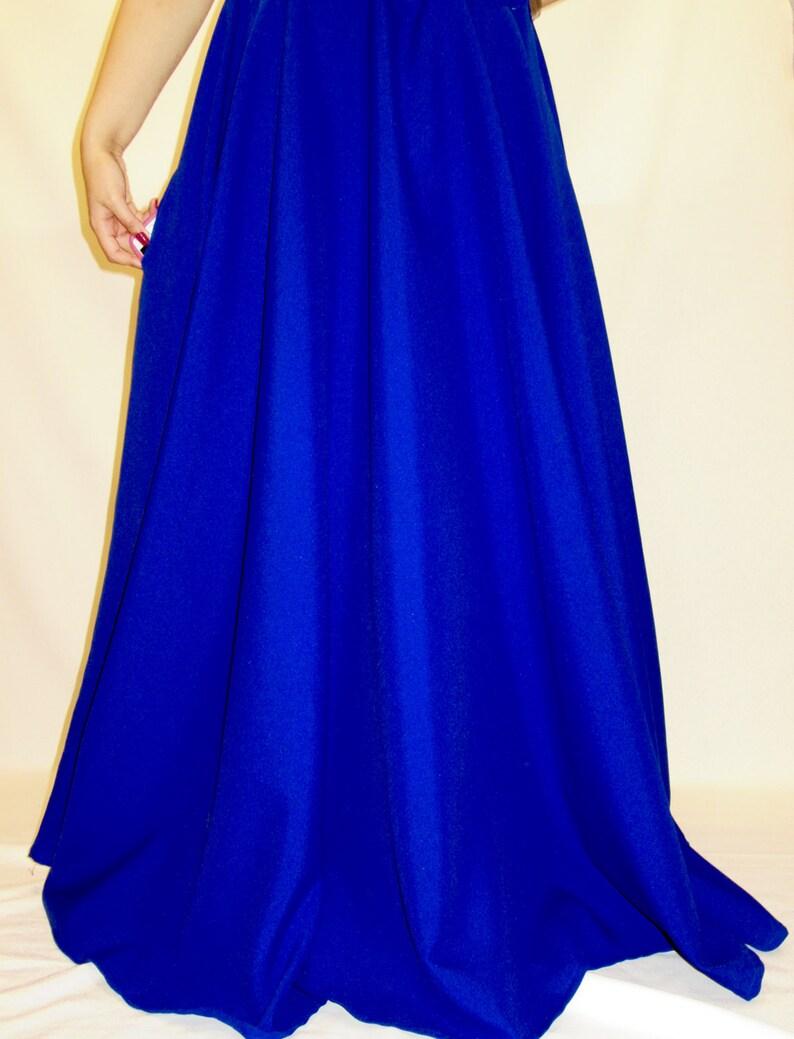 df3e38b95c Royal Blue Full Circle Skirt-Maxi Skirts-Royal Blue Color Long | Etsy