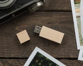 4GB Wood USB Flash Drive - USB Thumb Drive