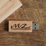 4GB Wood USB Flash Drive Engraved - Personalized USB Thumb Drive