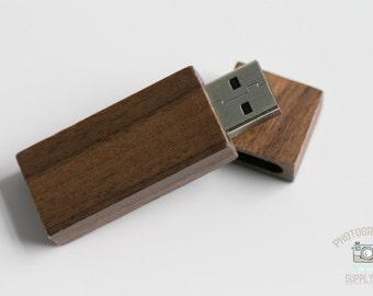 Wood/Wooden Mahogany USB 2.0 / USB 3.0 Flash Drive 16GB Capacity with Magnet Top