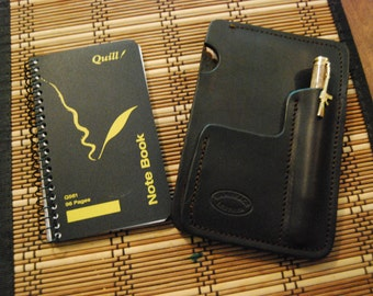 Heavy duty notepad holder. Handmade from 8 oz leather.