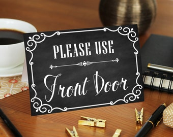 Superbe Please Use Other Door, Please Use Front Door, Front Door Sign, Front Door  Decoration, Custom Door Sign, Personalized Front Door Sign, DIY