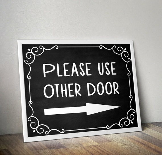 Please Use Other Door Please Use Front Door Front Door Sign | Etsy