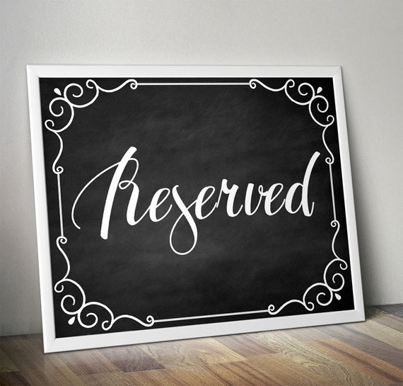 photo relating to Printable Reserved Signs for Wedding named Reserved Signs or symptoms for Wedding ceremony, Marriage ceremony Reserved Signal, Reserved Signal Marriage ceremony, Reserved Indicator Printable, Reserved Desk Indication, Chalkboard indication