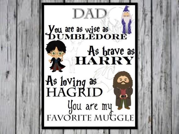 Harry Potter Dad Print Dad Birthday Present Dad Gift Dad | Etsy