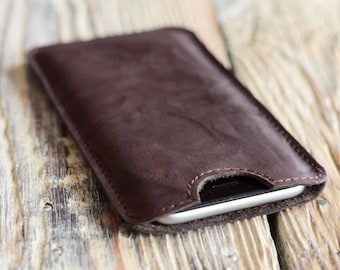 Leather case iPhone 6/6s sleeve Leather iPhone case Handmade iPhone cover iPhone 7 sleeve Man's phone case