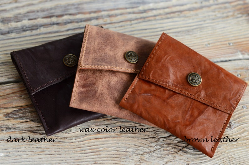 Leather purse Small pouch Coin purse Purse for cards