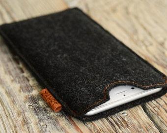 iPhone 6 plus cover Felt case Handmade gift iPhone 7 plus felt case Huawei P10 case iPhone 7 Plus sleeve Huawei felt sleeve