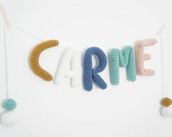 Custom names Crochet