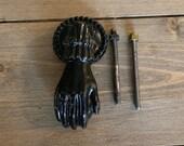 Vintage Cast Iron Hand Door Knocker