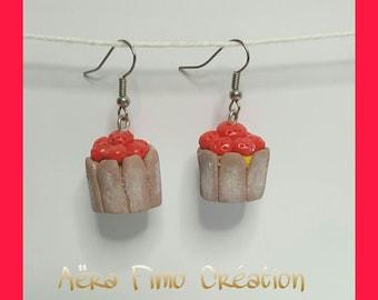 """Earring """"Strawberry ripe"""""""