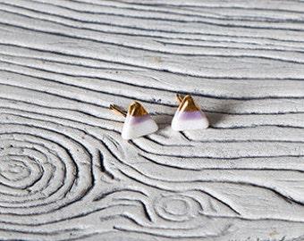 Boucles d'oreilles triangle plaqué or