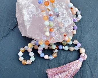 NATURAL Candy Colored Gemstone Mala