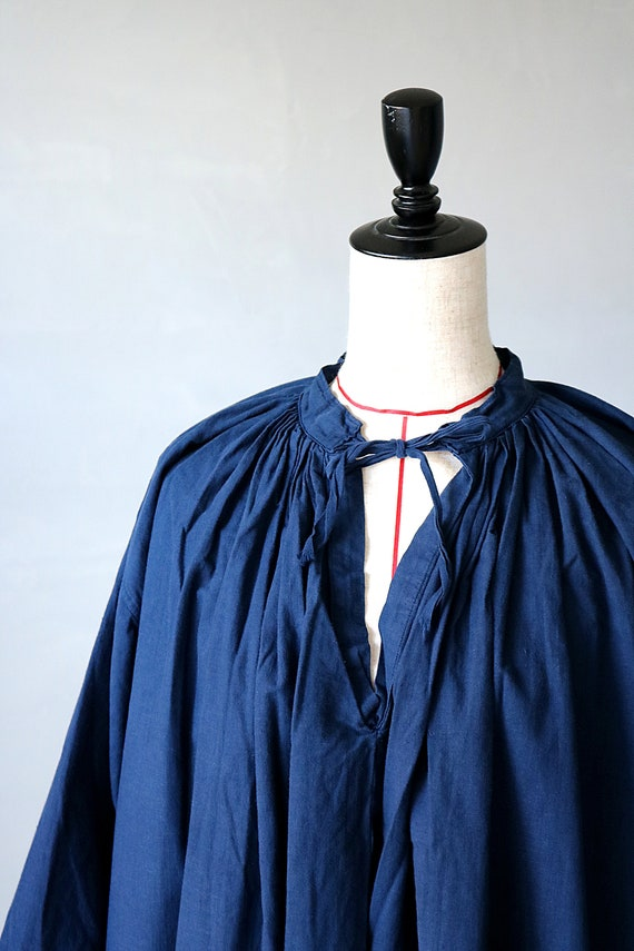 French antique cotton long robe/France/1940's 195… - image 10