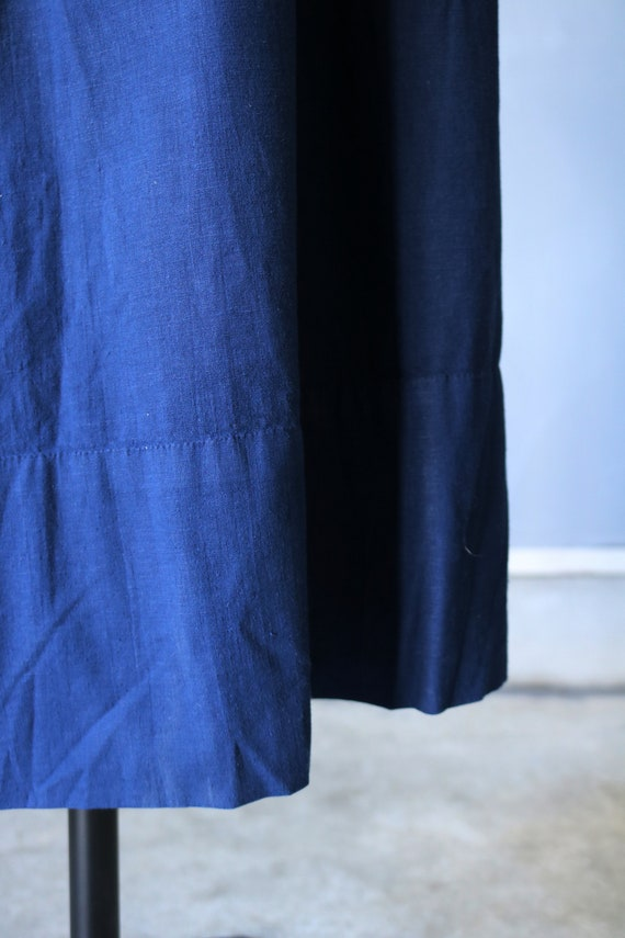 French antique cotton long robe/France/1940's 195… - image 9