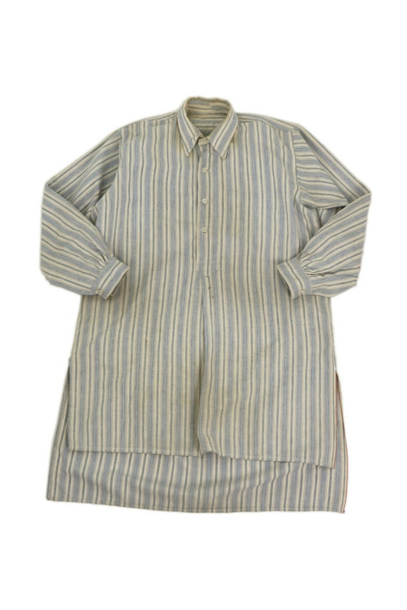 French vintage smock long shirt/France 1940's/pull
