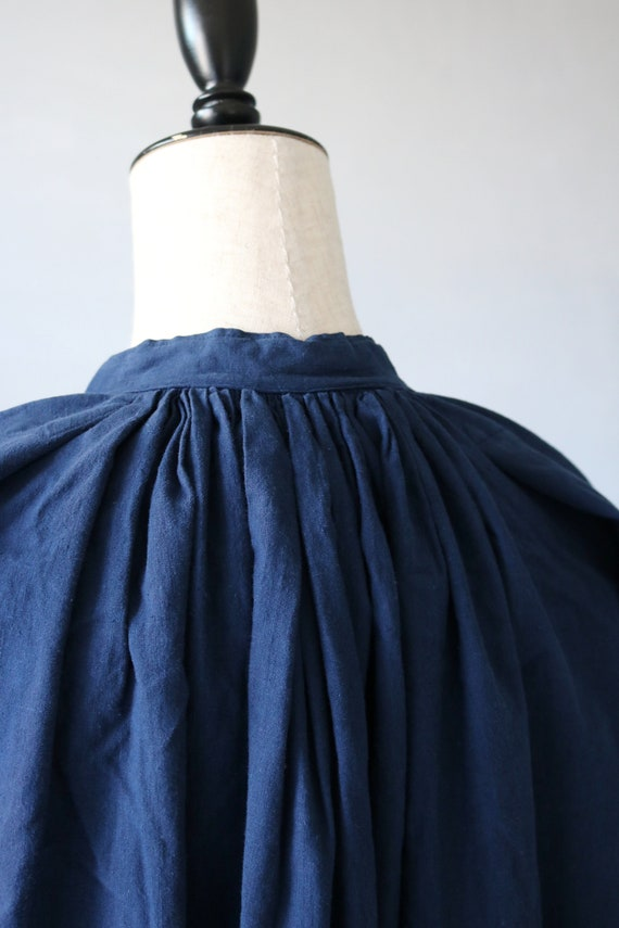 French antique cotton long robe/France/1940's 195… - image 7