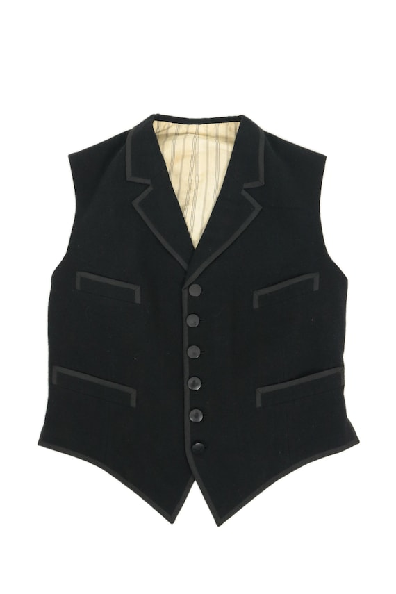 French antique wool vest/waistcoat gilet/France 19