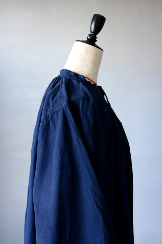 French antique cotton long robe/France/1940's 195… - image 8