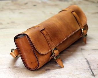 Transverse flute leather case bag Leder Querflötentasche