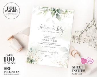 25 Wedding Invitations Evening Invites Personalised /& Handmade *40 Colours*