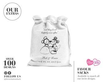 Disney Wedding Favours, Mickey and Minnie Favour, Wedding Bags, Wedding Favour Sacks, Magical, Magic Kingdom