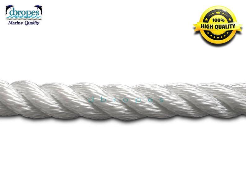 "2 of 3 Strand Mooring Lines Pendant Nylon Rope 3//8/""X10/' Chafe Guard Thimble"