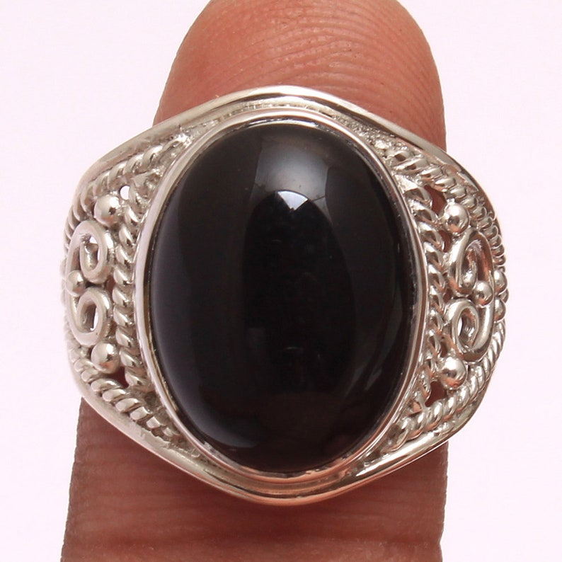 Natural Black Onyx Oval Shape Gemstone Ring For Father/'s Day Collection svr3401 925 Silver Hand Made Ring Jewelry Size US 7.75