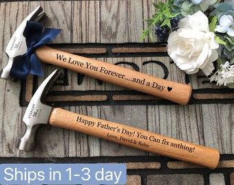 Personalized Hammer, Customized Engraved, Father of the Bride, Groom, Father's Day, Dad, Builder, Gift for husband, Step Dad, Grandpa gift